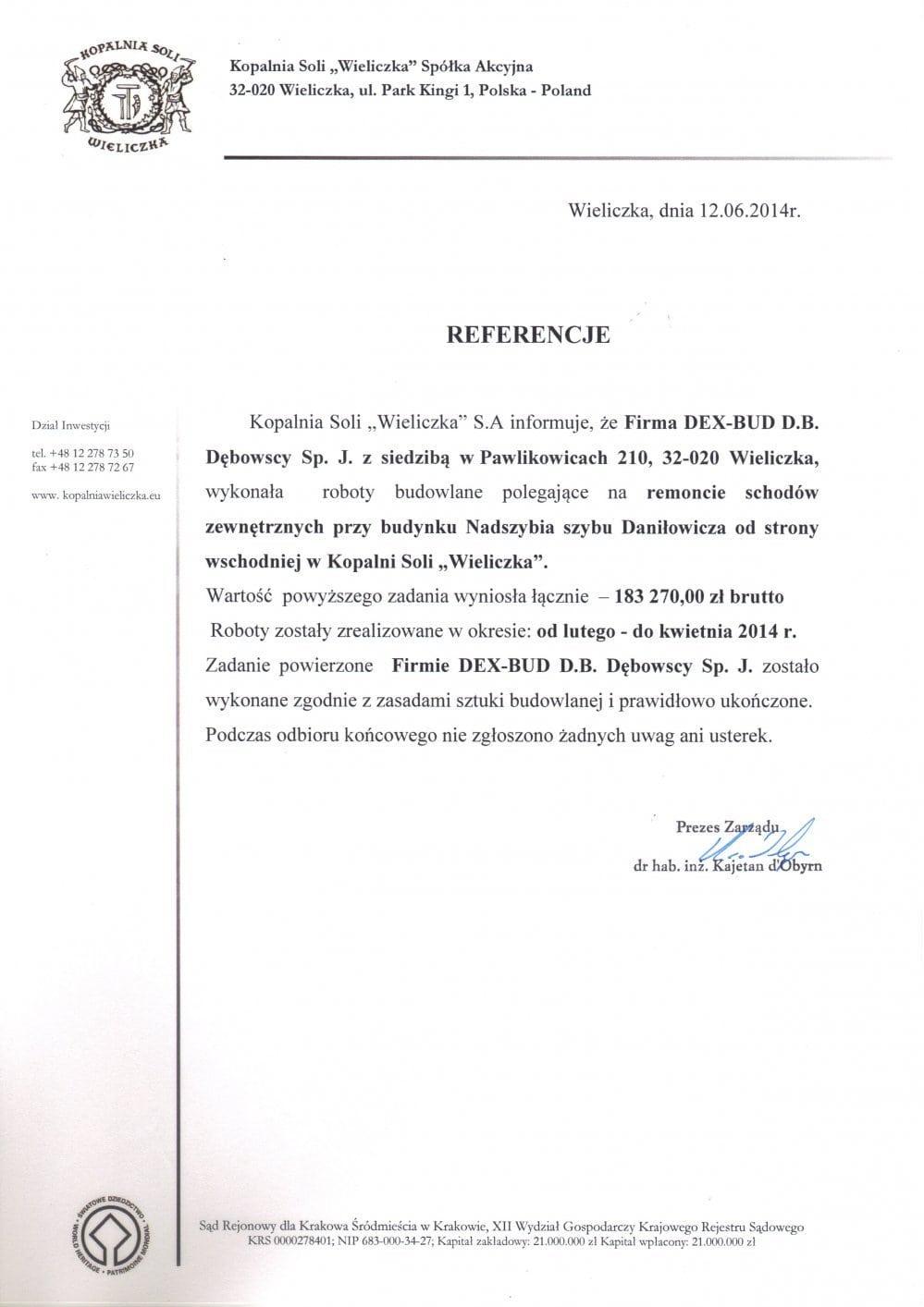 Kopalnia Soli Wieliczka - Dex-Bud
